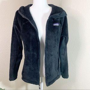 PATAGONIA R3 Hiloft Black Fleece Hoodie Jacket, M